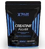 Creatin Monohydrat Pulver 500g - 100% rein - Qualität aus Deutschland - für Kraftsport | Bodybuilding | Fitness