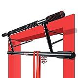 PullBull – Profi Klimmzugstange – Bis zu [200kg] Für Türrahmen ohne Schrauben – Pull Up Bar für Tür – rutschfeste Griffe – Klimmzug Stange Home Gym