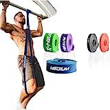 ActiveVikings Pull-Up Fitnessbänder | Perfekt für Muskelaufbau und Crossfit Freeletics Calisthenics | Fitnessband Klimmzugbänder Widerstandsbänder (C - Blau : Medium (Mittelstarker Widerstand))