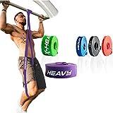 ActiveVikings Pull-Up Fitnessbänder | Perfekt für Muskelaufbau und Crossfit Freeletics Calisthenics | Fitnessband Klimmzugbänder Widerstandsbänder (D - Lila : Heavy (starker Widerstand))