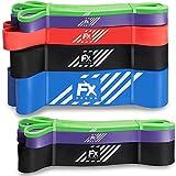 FFEXS Fitnessbänder - Set von 3 Klimmzugbänder für Klimzughilfe - Pull Up Band Widerstandsband - Latex Trainingsband Bänder für Crossfit Fitness Freiübungen Gymnastik Körpergewichtstraining