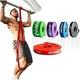 ActiveVikings® Pull-Up Fitnessbänder | Perfekt für Muskelaufbau und Crossfit Freeletics Calisthenics | Fitnessband Klimmzugbänder Widerstandsbänder (A - Rot : X-Light (Sehr Leichter Widerstand))